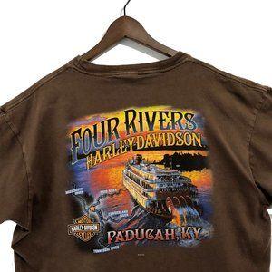 Harley Davidson Four Rivers Paducah KY T-shirt 2XL